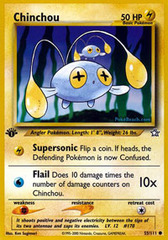 Chinchou - 55/111 - Common - 1st Edition