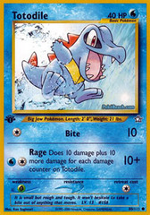Totodile - 80/111 - Common - 1st Edition