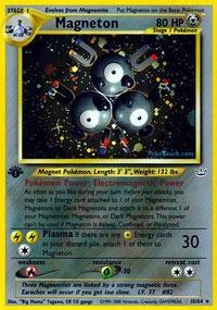 Magneton - 10/64 - Holo Rare - 1st Edition