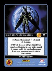 Blue Resolute Mastery - S5 - Rainbow Foil