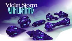 PolyHero Wizard Set - Violet Storm with Lightning