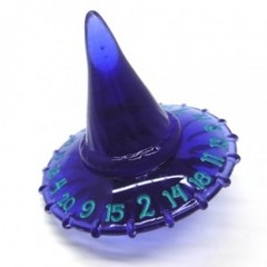 PolyHero - 1d20 Hat - Violet Storm with Lightning