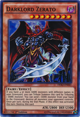 Darklord Zerato - DESO-EN041 - Super Rare - 1st Edition on Channel Fireball