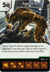 Agent X - Trained by Taskmaster (Foil) (Die & Card Combo)
