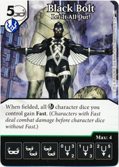 Black Bolt - Let It All Out! (Die & Card Combo)