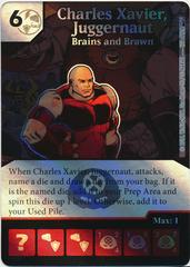 Charles Xavier, Juggernaut - Brains and Brawn (Foil) (Die & Card Combo)