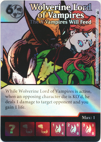 Wolverine Lord of Vampires - The X-Vampires Will Feed (Foil) (Die & Card Combo)