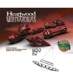 Polyhero Dice: D20 Wizard Hat Promo - Heartwood With Moonsilver