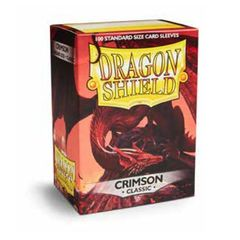 Dragon Shield Sleeves Box of 100 in Crimson