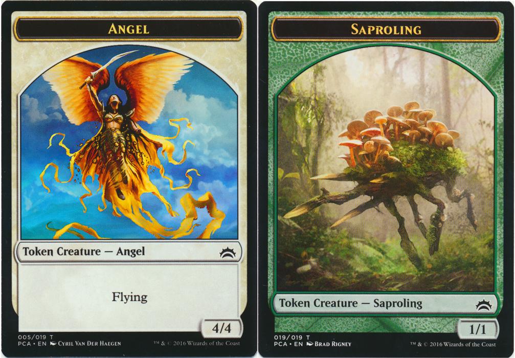 Angel Token // Saproling Token