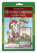 12 Days of Munchkin Christmas Coloring Book