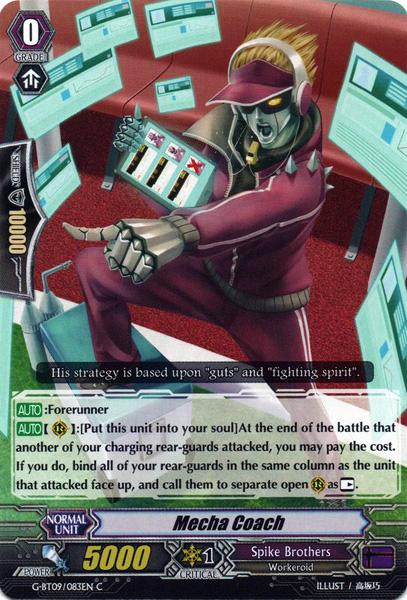 Mecha Coach - G-BT09/083EN - C - Cardfight! Vanguard Singles