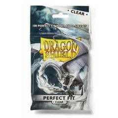 Dragon Shield Sleeves:  Perfect Fit-Clear (100)