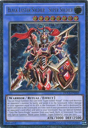 Black Luster Soldier - Super Soldier - DOCS-EN042 - Ultimate Rare - Unlimited Edition