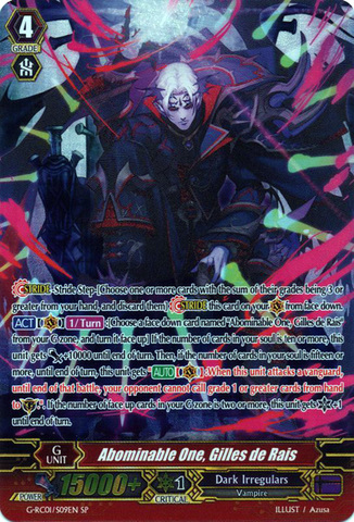 Abominable One, Gilles de Rais - G-RC01/S09EN - SP