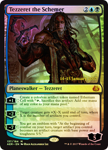 Tezzeret the Schemer - Foil - Prerelease Promo