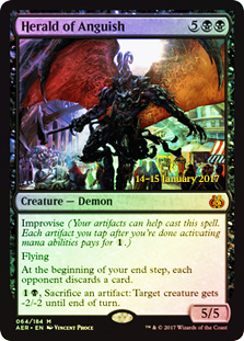 Herald of Anguish (Aether Revolt Prerelease Foil)