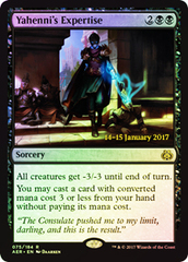 Yahenni's Expertise (Aether Revolt Prerelease Foil) on Channel Fireball