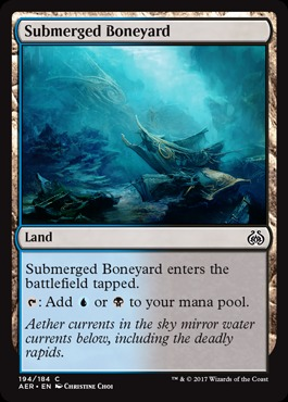 Submerged Boneyard (Aether Revolt) - Planeswalker Deck Exclulsive