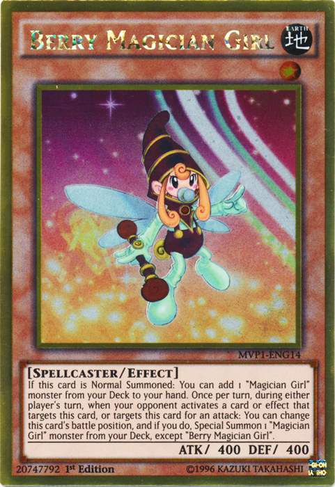 Berry Magician Girl - MVP1-ENG14 - Gold Rare - 1st Edition