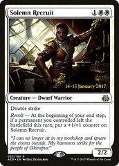 Solemn Recruit - Foil - Prerelease Promo