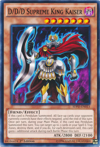D/D/D Supreme King Kaiser - SDPD-EN013 - Common - 1st Edition