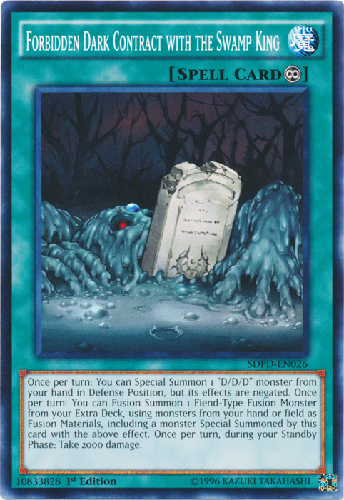 Forbidden Dark Contract with the Swamp King - SDPD-EN026 - Common - 1st Edition