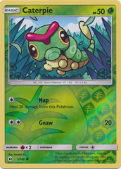 Caterpie - 1/149 - Common - Reverse Holo on Channel Fireball