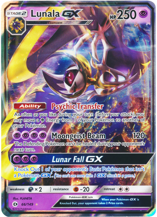 Lunala Gx 66 149 Ultra Rare Pokemon Card Singles