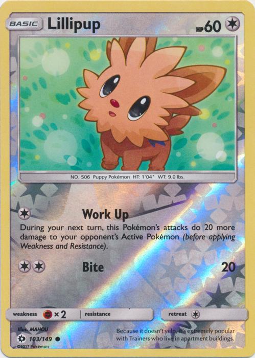Base Rare  Mint//NM  Pokemon Stoutland 105//149 Sun /& Moon