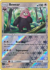 Bewear - 112/149 - Rare - Reverse Holo on Channel Fireball
