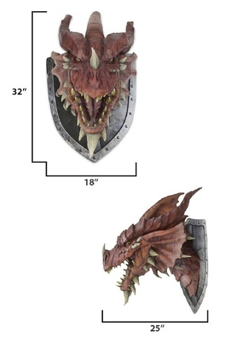 D&D Red Dragon Trophy Plaque Reprint