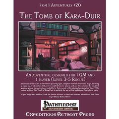 1 On 1 Adventures #20: The Tomb Of Kara-Duir (Pathfinder Adventure)