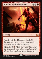 Bonfire of the Damned - Foil