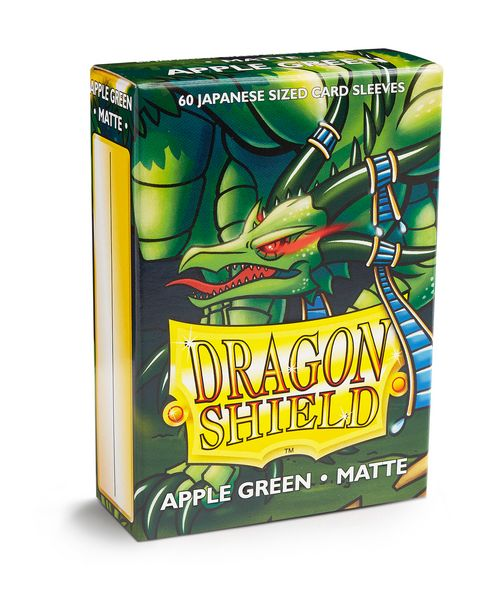 Dragon Shield Matte - Japanese size - Apple Green - 60 ct
