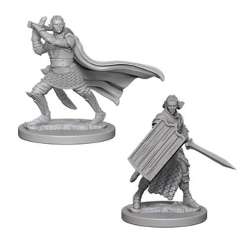 Pathfinder: Deep Cuts Unpainted Miniatures - Elf Male Paladin