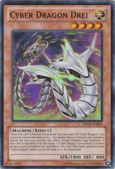 Cyber Dragon Drei - SDCR-EN002 - Super Rare - Unlimited Edition