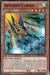 Armored Cybern - SDCR-EN011 - Common - Unlimited Edition on Channel Fireball