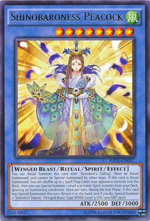 Shinobaroness Peacock - RATE-EN037 - Rare - Unlimited Edition
