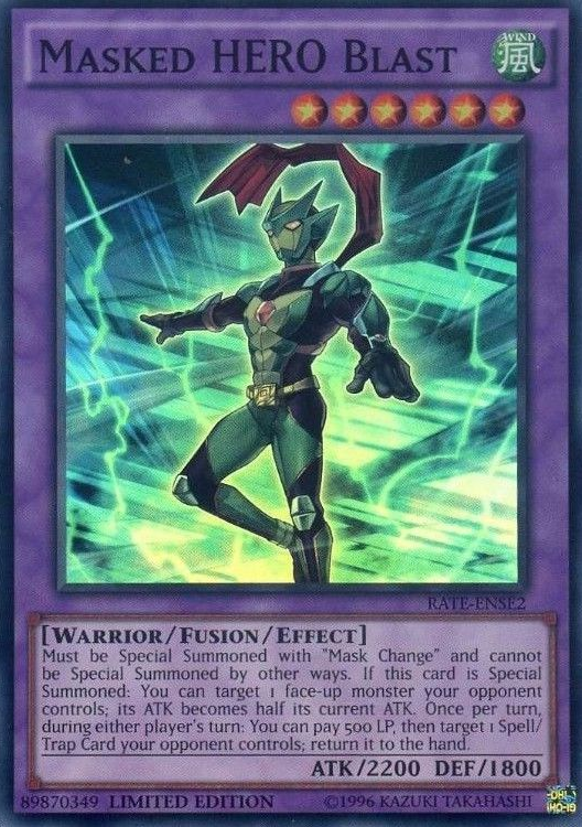 Masked HERO Blast - RATE-ENSE2 - Super Rare - Limited Edition
