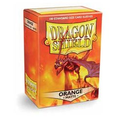 Dragon Shield Standard Card Sleeves 100ct - Matte Orange