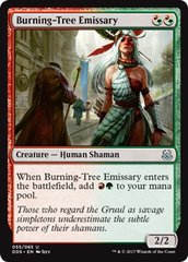 Burning-Tree Emissary on Channel Fireball