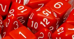 Opaque Red with White Numbers - Set of 15