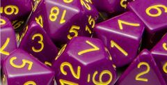 Opaque Dark Purple with Gold Numbers - Set of 15