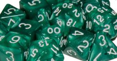 Marble Green with White Numbers - Set of 7