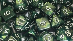 Emerald Dragon Shimmer with White Numbers - Set of 15