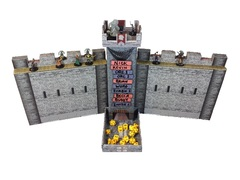 Role 4 Initiative - Castle Keep Dice Tower, 2 Castle Wall DM Screens with Magnetic Initiative Turn Tracker