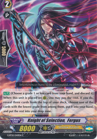 Knight of Selection,  Fergus - G-BT10/049EN - C
