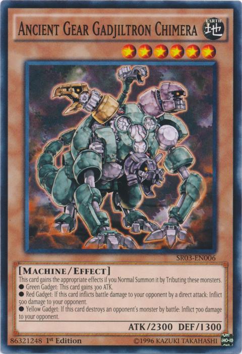 Ancient Gear Gadjiltron Chimera - SR03-EN006 - Common - 1st Edition