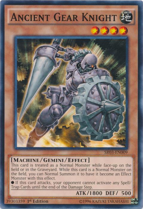 Ancient Gear Knight - SR03-EN009 - Common - 1st Edition